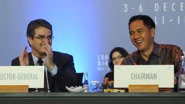 L'accord de Bali est aussi une victoire personnelle de Roberto Azevedo (à gauche), le nouveau directeur général de l'OMC