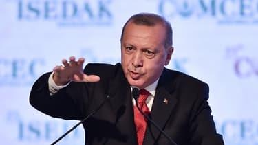 Le président turc Recep Tayyip Erdogan lors d'un discours à Istanbul, le 27 novembre 2019