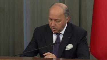 Laurent Fabius à Moscou le 17 septembre.