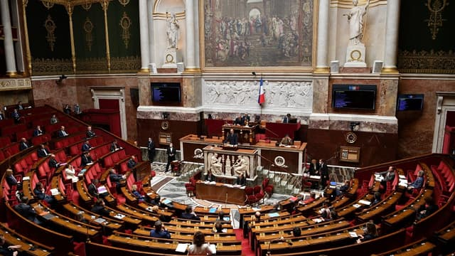 Edouard Philippe à l'Assemblée nationale, le 28 avril 2020