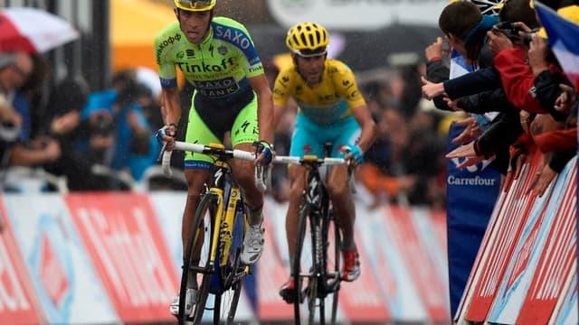 Alberto Contador et Vincenzo Nibali