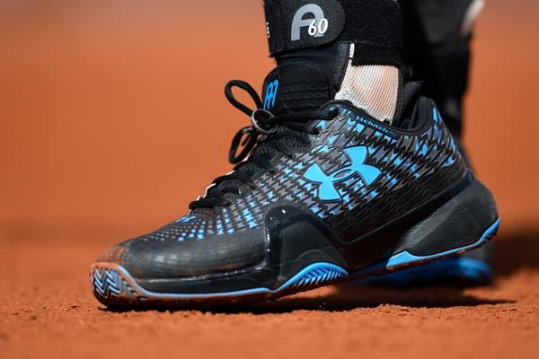 L'alliance d'Andy Murray sur ses baskets, à Roland-Garros le 7 juin 2017
