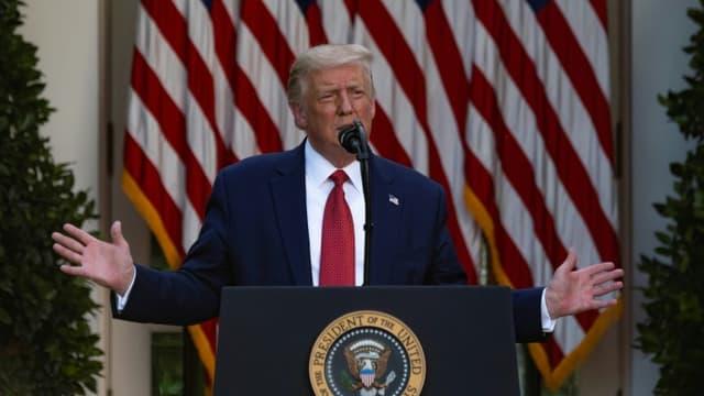 Le président américain Donald Trump s'exprime depuis la Maison Blanche le 14 juillet 2020