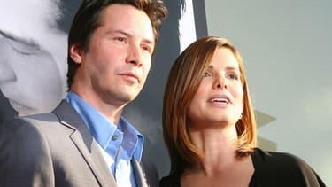 Keanu Reeves et Sandra Bullock en juin 2006