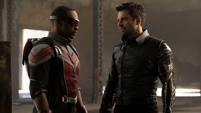 """Anthony Mackie et Sebastian Stan dans """"Falcon et le Soldat de l'Hiver"""", la nouvelle série de Marvel pour Disney+"""