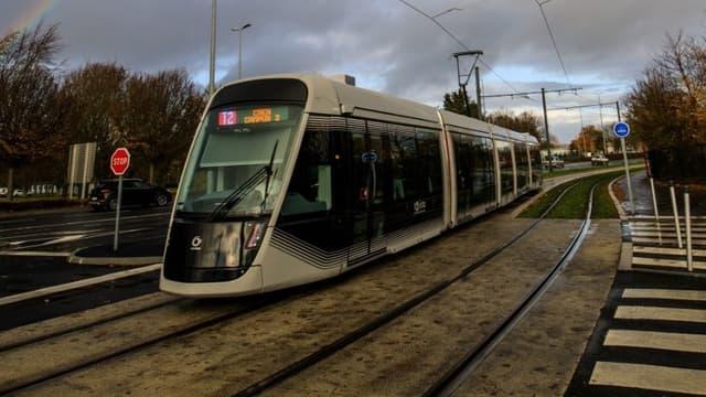 Le tram à Caen en novembre 2019