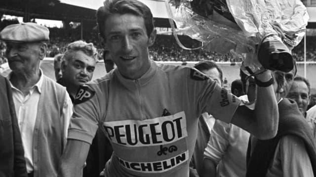 Roger Pingeon le 23 juillet 1967 après sa victoire sur le Tour de France