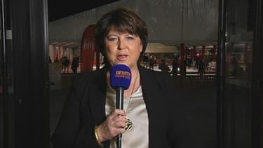 """Martine Aubry était en direct de Lille pour BFMTV lundi 17 février. Elle a rappelé qu'elle """"resterait maire de Lille"""" quoi qu'il arrive."""