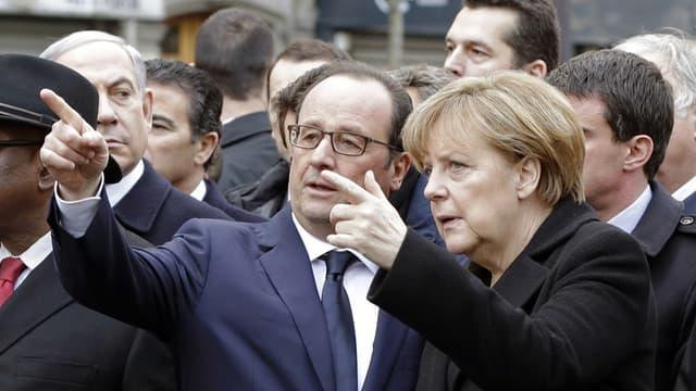Les deux dirigeants, ici à la marche du 11 janvier, vont se rendre ensemble à Kiev et à Moscou.