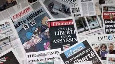 """Un an après l'attentat contre Charlie Hebdo, une association regroupant des proches des victimes a appelé lundi les médias """"amenés à traiter ce funeste anniversaire"""" à faire preuve de """"retenue"""" et éviter les """"détails mortifères - Photo d'illustration - Lundi 4 janvier 2016"""