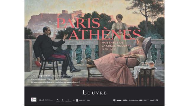 """Affiche de l'exposition """"Paris - Athènes"""" du Musée du Louvre"""