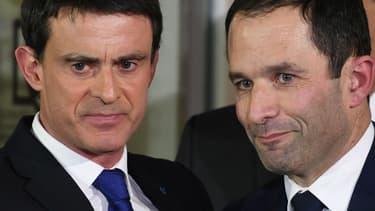 Manuel Valls et Benoît Hamon