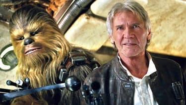Harrison Ford dans la peau de Han Solo dans Star Wars: Le réveil de la Force
