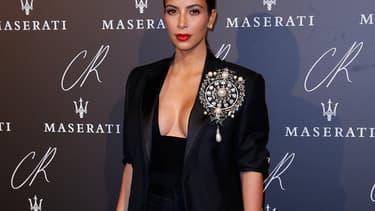 Kim Kardashian à la Fashion Week à Paris, le 30 septembre.