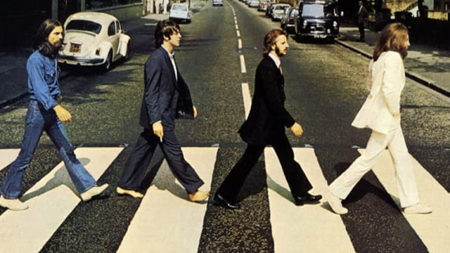 """La pochette de l'album """"Abbey Road"""" des Beatles."""