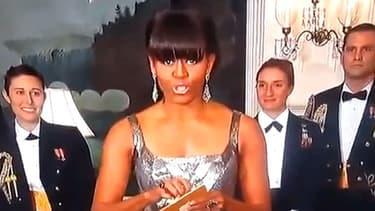 Michelle Obama a dévoilé en duplex de Washington le gagnant de l'Oscart du meilleur film.