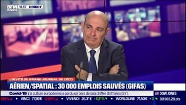 """Eric Trappier: les mesures d'aides du gouvernement ont permis de sauver """"plus de la moitié des emplois"""" du secteur aéronautique"""