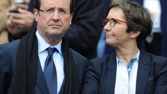 François Hollande aux côtés de Valérie Fourneyron, la ministre des Sports