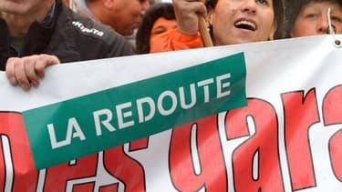 Les salariés de La Redoute ont manifesté jeudi contre un possible plan social.