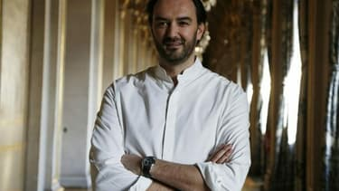 Cyril Lignac en janvier 2016, à l'Hôtel de Ville de Paris