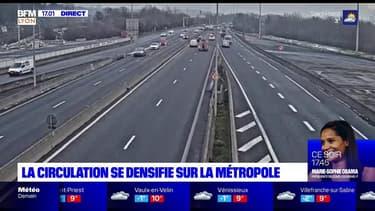 Couvre-feu: la circulation se densifie sur la métropole lyonnaise, mais le trafic reste fluide