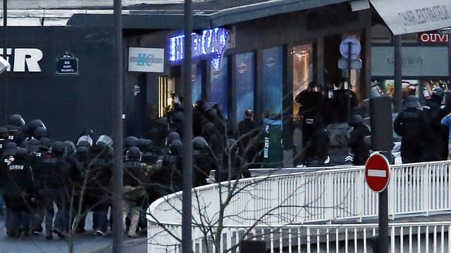 Le lieu de la prise d'otages à Vincennes