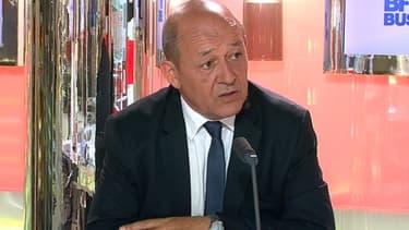 Jean-Yves Le Drian, le ministre de la Défense, était l'invité de BFM Business, lundi 17 juin.