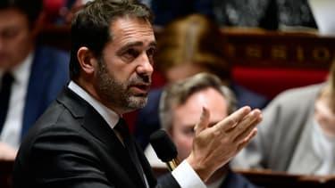 Le secrétaire d'Etat aux relations avec le Parlement et porte-parole du gouvernement Christophe Castaner, le 15 novembre 2017 à l'Assemblée nationale à Paris.