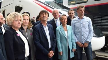 La ligne a été inaugurée par les ministres Nicolas Hulot et Elisabeth Borne