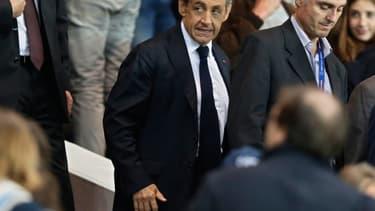 Nicolas Sarkozy au Parc des Princes le 21 septembre.