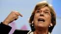 Marie-Noëlle Lienemann en octobre 2013 à Toulouse. Sénatrice appartenant à l'aile gauche du PS, elle attend des précisions sur le pacte de responsabilité.