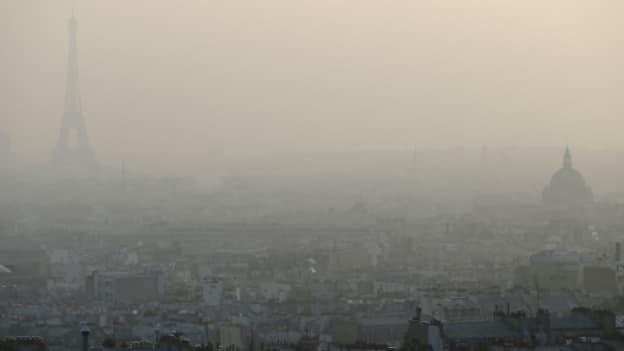 La capitale enveloppée d''un voile de pollution lors d'un pic enregistré le 11 mars 2014