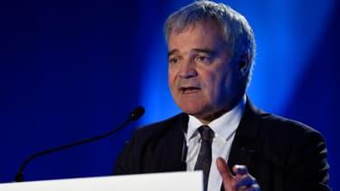 Le député LaREM Richard Lioger lors d'un meeting pour les municipales à Metz, le 18 février 2020