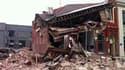 Un bâtiment effondré à Christchurch
