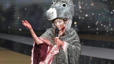 L'actrice Corinne Masiero lors de la 46e cérémonie des César le 12 mars 2021 à Paris
