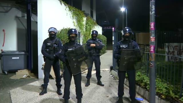 L'évacuation des étudiants à Lyon 2.