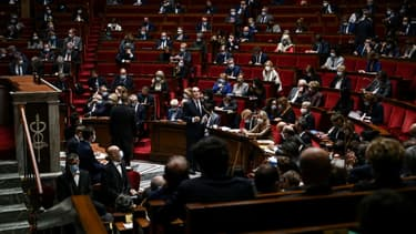 L'assemblée nationale le 6 octobre 2020 lors d'une session de questions au gouvernement (Photo d'illustration)