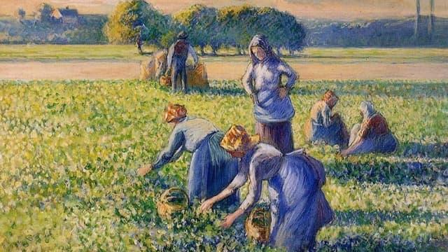 """La Cueillette"" de Pissarro."