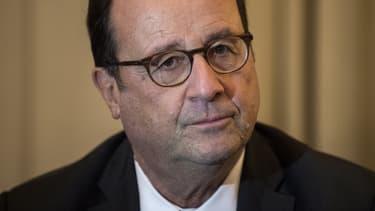 L'ancien président de la République, François Hollande, en visite ne Grèce, le 15 novembre 2018.