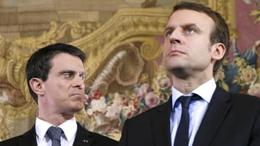 Manuel Valls et Emmanuel Macron.