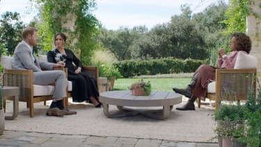 Meghan et le prince Harry face à Oprah Winfrey