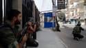 Dans les rues d'Harasta, près de Damas en Syrie.