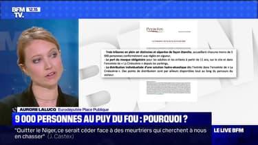 """9000 personnes au Puy du Fou: Aurore Lalucq a """"l'impression qu'il s'agit d'un passe-droit"""""""