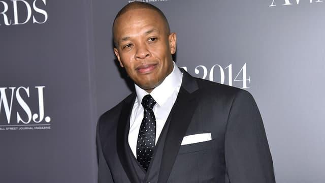 Le rappeur et producteur Dr Dre lors de la cérémonie des WSJ. Magazine 2014 Innovator Awards, à New York, en 2014.
