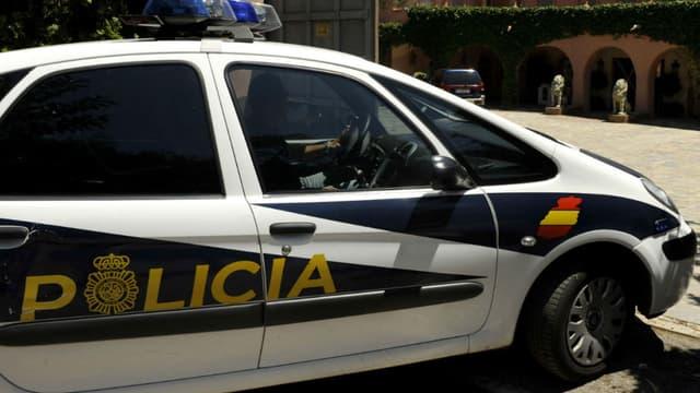 Un véhicule de police espagnol