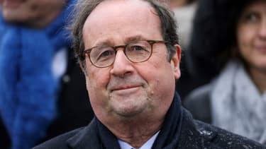 L'ancien président François Hollande à Paris le 11 novembre dernier. - Ludovic Marin / POOL / AFP