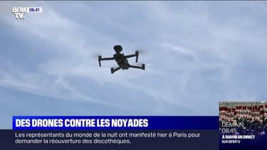 Les secouristes utilisent des drones contre les noyades dans cette base de loisirs parisienne