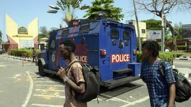 Un camion de police au Nigéria - Image d'illustration