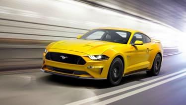 C'est à bord de sa Ford Mustang jaune qu'une Américaine a été flashée à plus de 220 km/h, juste après une première amende pour excès de vitesse.