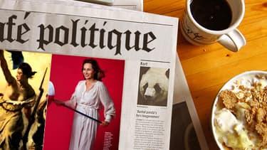 """Ségolène Royal façon """"Liberté guidant le peuple"""", dans le Parisien Magazine."""